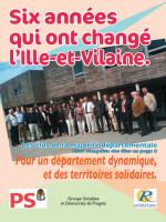 Bilan des socialistes au Conseil Général d'Ille-et-Vilaine