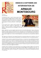 Discours d'Arnaud MONTEBOURG