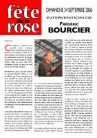 Discours de Frédéric BOURCIER