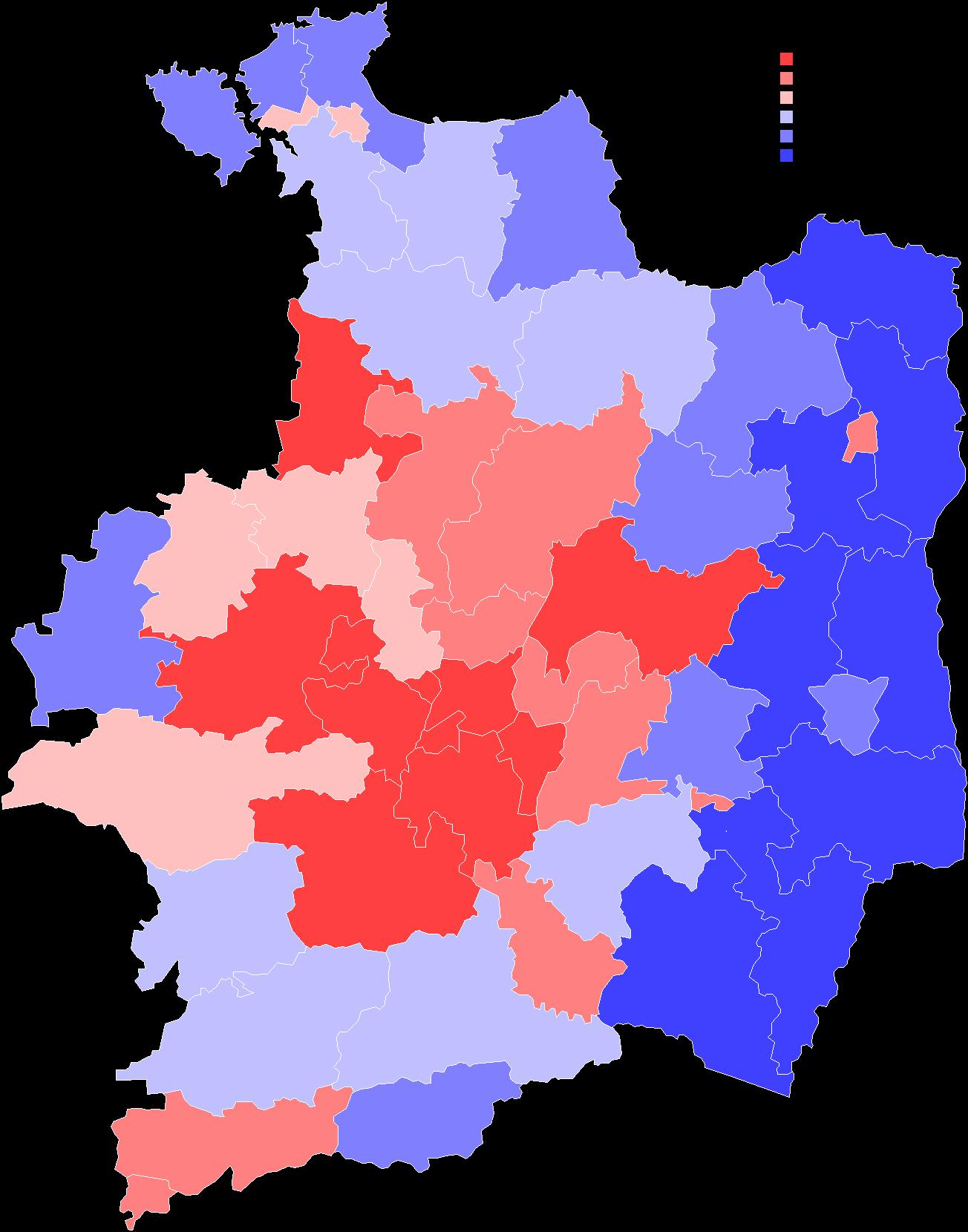 Résultats de Ségolène Royal par canton au 2ème tour