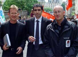 Frédéric Bourcier, Pierre Morin et Cyrille Morel