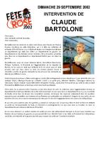 Discours de Claude BARTOLONE