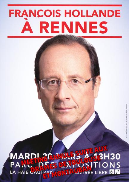 Meeting de François Hollande à Rennes annulé