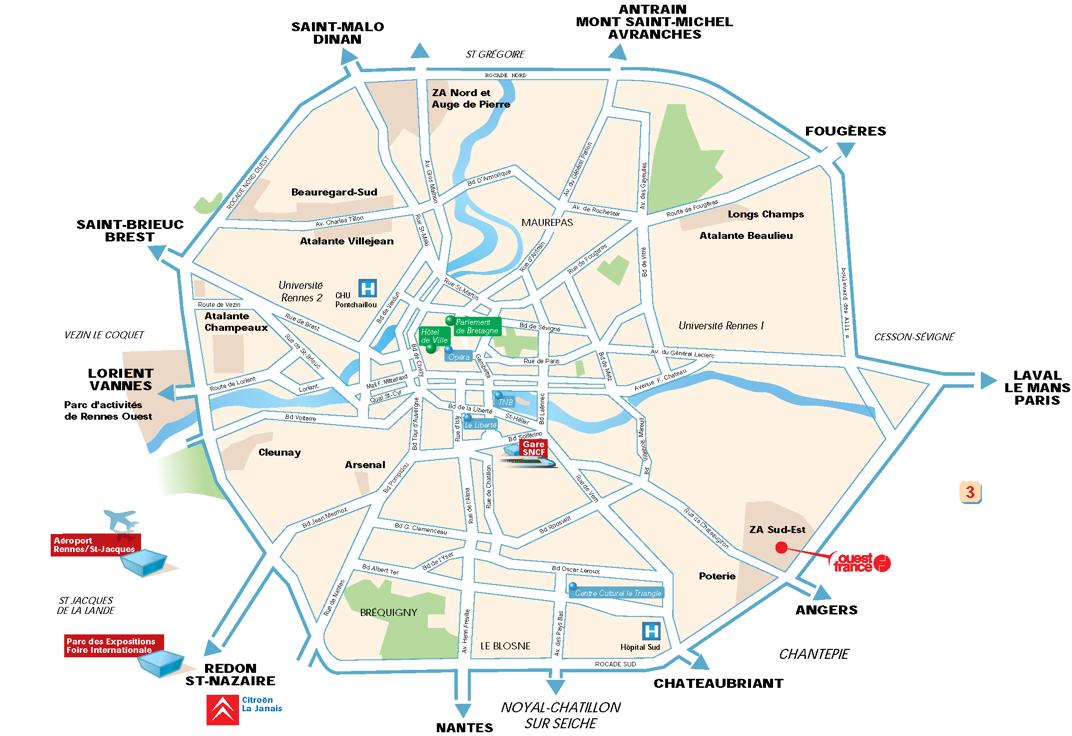 Plan d'accès au meeting de François Hollande