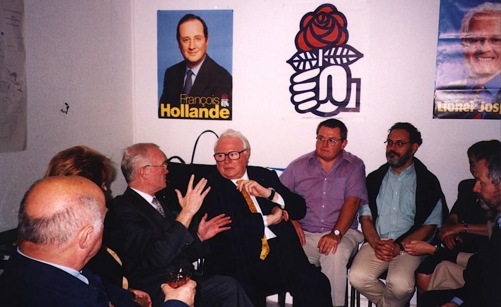 Pierre Mauroy, le 27 juin 2001, à Cesson-Sévigné